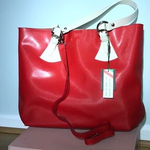 Leather Pulicati made in Italy Large Tote
